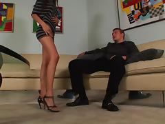 Alexis Love face fucking before exploring foot fetish