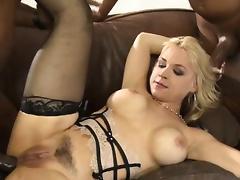 Big tits Sarah Vandella all holes rammed