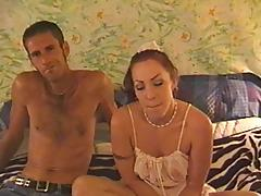 Great sex with his pierced nipples girlfriend makes him cum