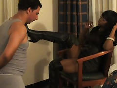Black beauty discovers pleasures of femdom
