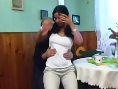 Young Busty girl with Old Man