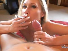 Devon Lee sucks off your cock in a milf blowjob tube video