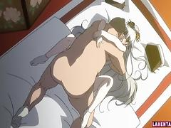 Hentai babe gets her wet pussy pumped deep