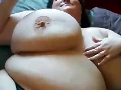 Slutty SBBW Playing with self husband watches
