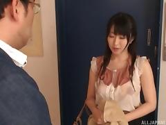 Slutty Asian teacher can't go a day without fucking