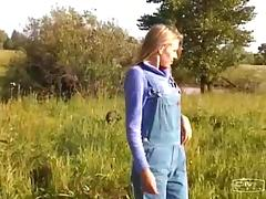 Farm girl meets a couple of military guys and fucks them both