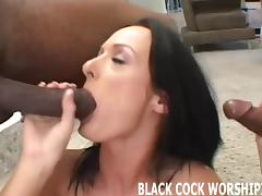 These two big black cocks are going to tear my pussy up