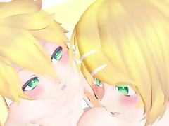 MMD Sexy Blonde TWlN5 Sexy Dancing Sex Anal GV00143