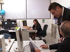 While staying late at the office this Japanese babe fucks her boss