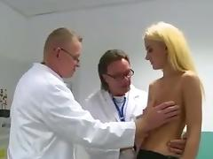 Husband expects his  cheating wife in the waiting room