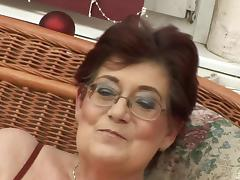 Fat old ladies and horny younger guys fucking in an orgy