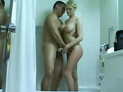 Super sexy blonde housewife fucked hard