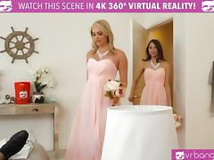 VR BANGERS- Mia Malkova and Riley Reid Bridesmaids fuck