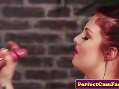 British redhead spunked on face