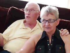 Grandma and grandpa with boy