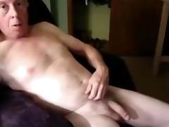 Bi grandpa wanking