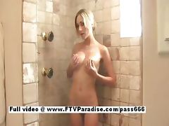 Julia from ftv babes blonde cute babe taking a shower