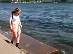 Russian college girl fucked in a bar