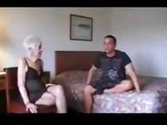 Grandma enjoys junior cock