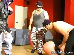Slutty brunette gets sexy butt spanked