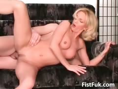 Smoking hot MILF blonde takes a wild