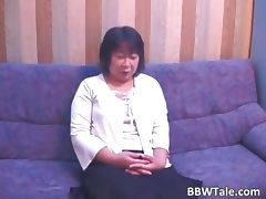 Old horny brunette asian woman