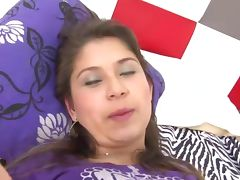 Sexy latino slut is stripped and groped