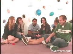Truth or dare sexgame with horny teens