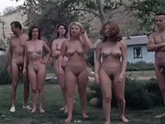 Naked Swingers Have Fun at Nudist Resort 1960