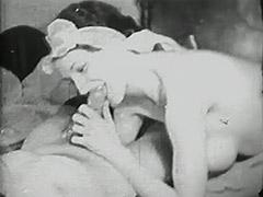 Drunken Dude's Cock Sucked by Prostitute 1930