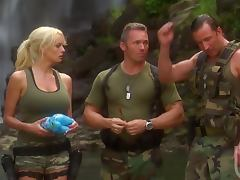 Hardcore Threesome With The Sexy Blonde Soldier Stormy Daniels