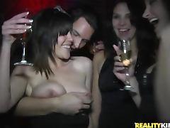 Club girls get slutty in public