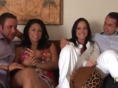 Brunette Beauties Cassandra Cruz and Kylee King Swap Partners in Foursome