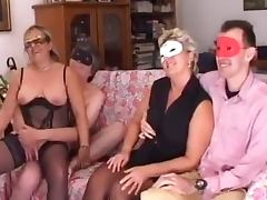 Mature ladies in group scene