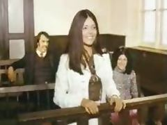 Hot Babes Get Fucked in Court in a Hardcore Retro Porn Orgy