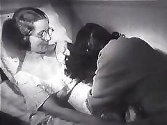 Horny Lesbian Babe Gets a Vintage Sybian From Santa Retro Porn Scene