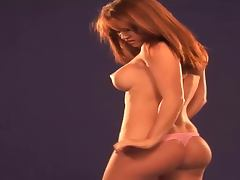 Redhead beauty got a fine ass and some bouncy tits