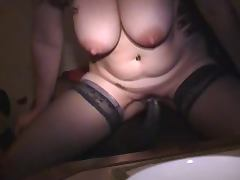 White wife creampied by BBC