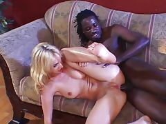 Loud babe yells for black cock