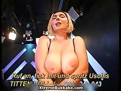 Busty blonde slut goes crazy sucking part3