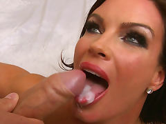Diamond Foxxx is getting cum over her tongue by Mick Blue
