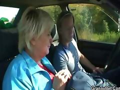 She rides my horny cock right in the car
