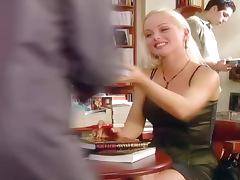 Lea De Mae the naughty blonde getting fucked on the sofa