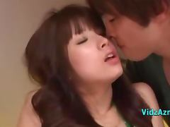 Asian Girl Licked And Fingered Sucking 2 Guys On The Bed In The Roo