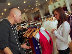 Johnny Sins impaed Lily Carter in the store