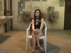 Ann Marie La Sante gets punished in a public bathroom