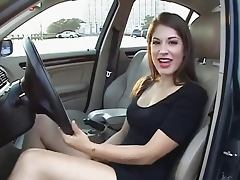 Hottie in her car JOI