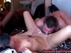 Real amsterdam bitch gets a cumshot