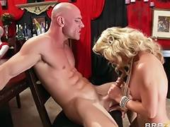 blonde sensual mommy loves a big cock