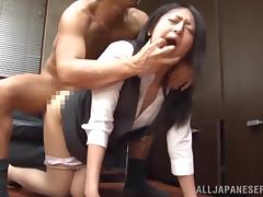 Boss fucks the sexiest employee in his office
